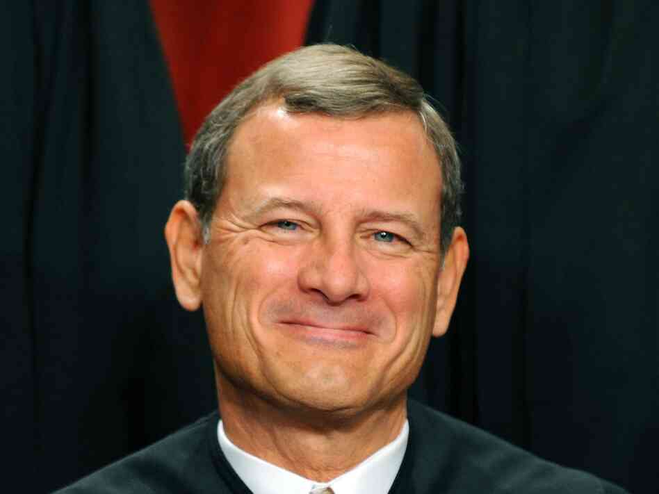 Supreme Court Chief Justice John G. Roberts participates in the court's official photo session on October 8, 2010 at the Supreme Court in Washington, D.C.