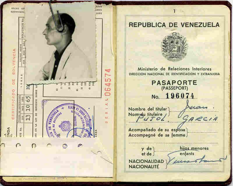 The former spy's Venezuelan passport.