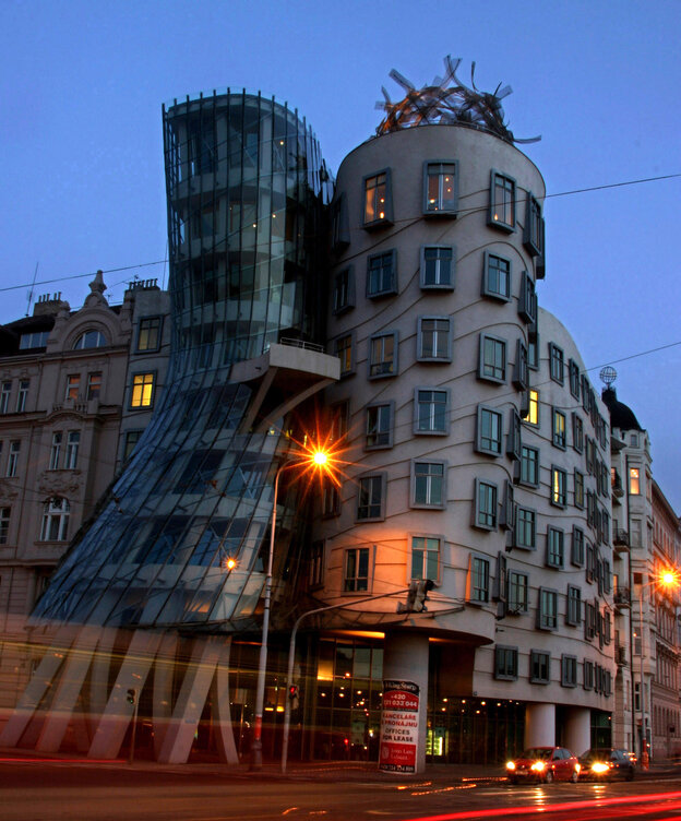 "The ""Fred And Ginger"" dancing building in Prague, Czech Republic"