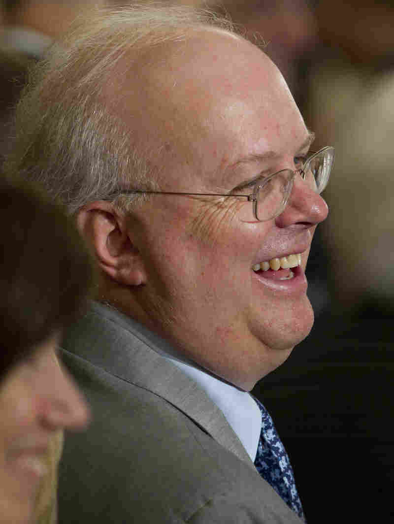Karl Rove attends a ceremony to unveil the portrait of former President George W. Bush at the White House in May. A former Bush adviser, Rove also is a founder of Crossroads GPS.