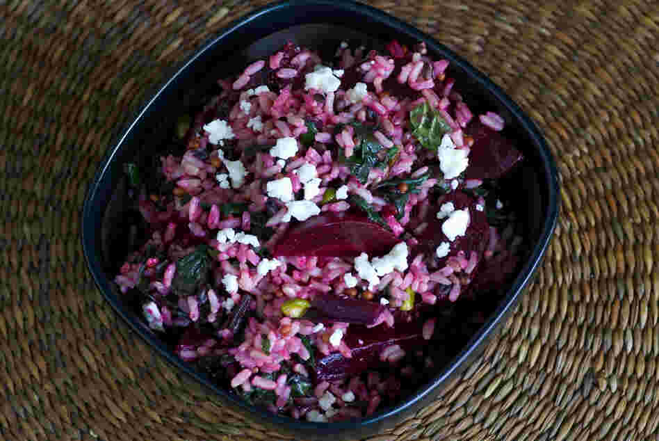 Red Rice, Roasted Beets And Greens
