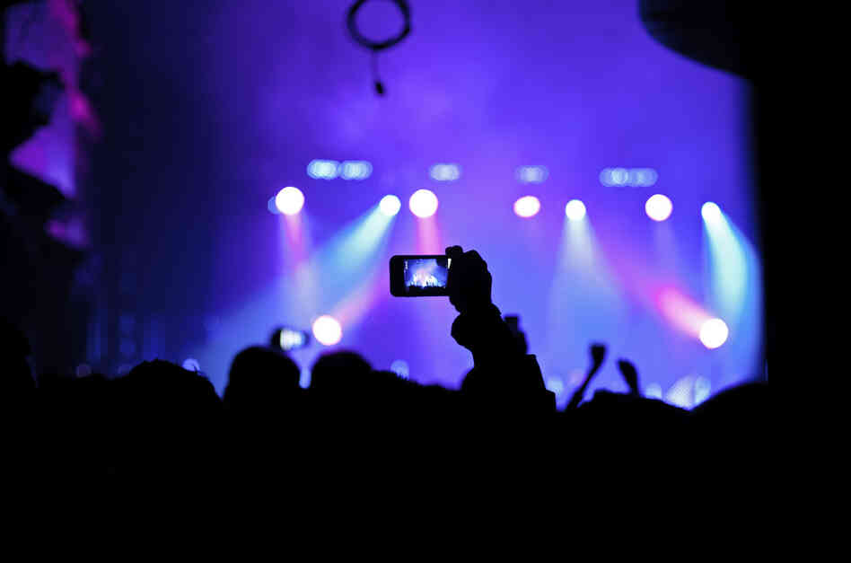 Concertgoers at Webster Hall in New York City during a show by M83 on Nov. 22, 2011.