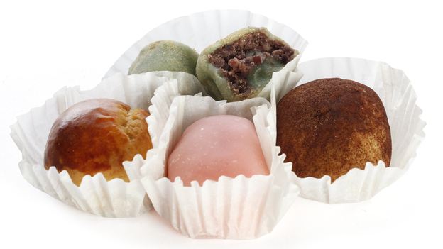 Manju from Umai Do Japanese Sweets, a bakery in Seattle, Wash. (NPR)