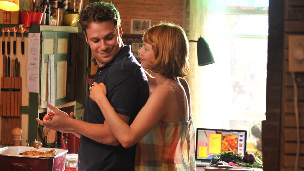 Seth Rogen and Michelle Williams as a husband and wife whose marriage becomes strained in Take This Waltz, the latest film from Canadian director Sarah Polley.