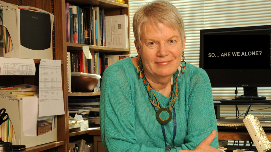 Dr. Jill Tarter has spent 35 years searching for extraterrestrial life in the universe. She has a Ph.D. in astronomy from the University of California, Berkeley. (SETI Institute)