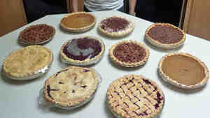 NPR listener Rob Siegel of Philomath, Ore., says every Thanksgiving he spends a whole day making pies with his grandchildren.