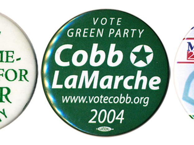 Green Party presidential candidates never attracted much support, but in 2000 they certainly attracted attention. (Ken Rudin collection)
