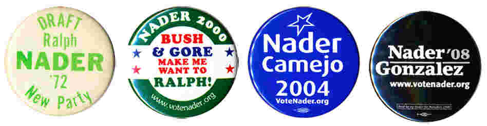 Ralph Nader as a presidential candidate dates back to 1972.  After 2000 he left the Green Party and ran as an independent in '04 and '08.