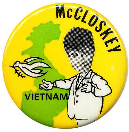 McCloskey Vietnam button