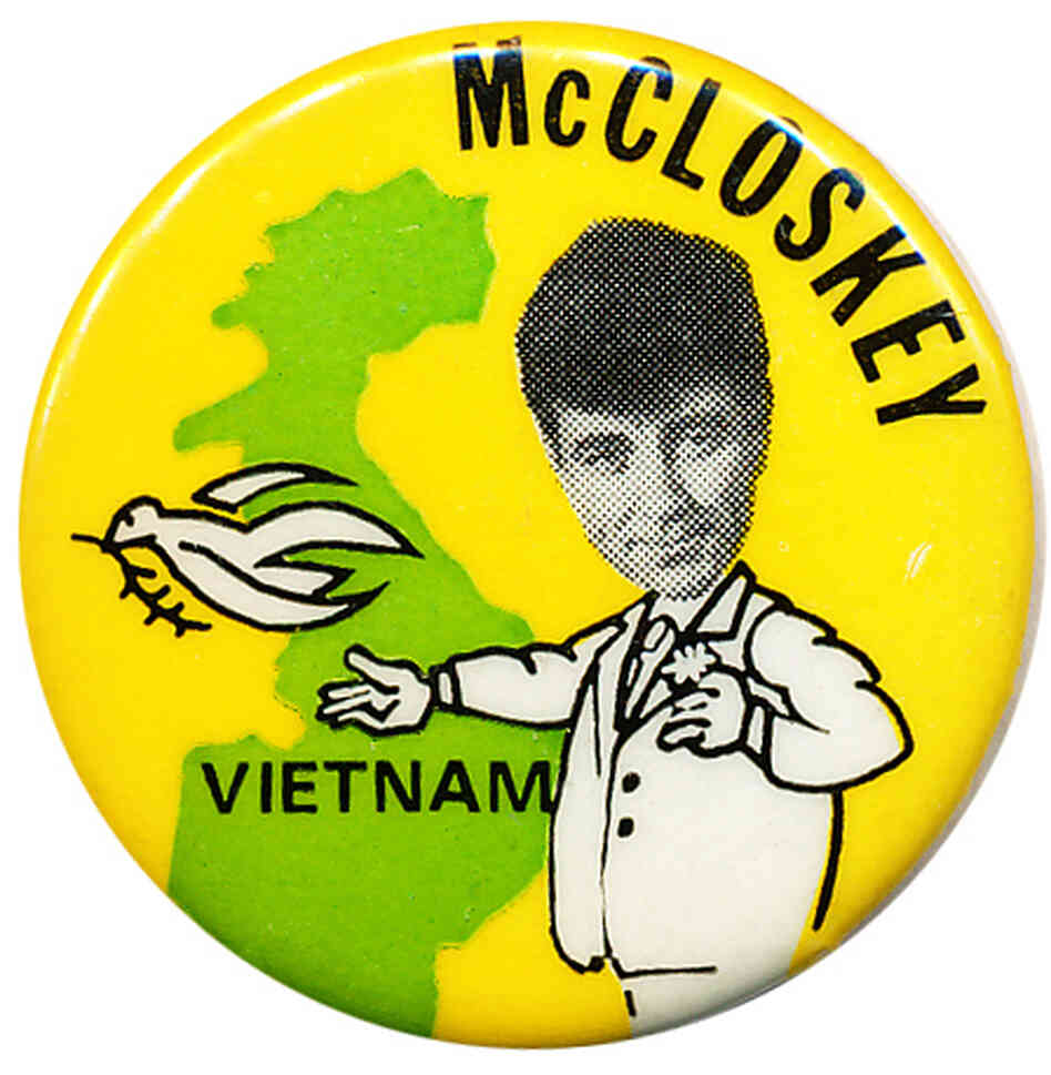 McCloskey Vietnam button