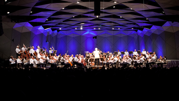 The Boston Symphony Orchestra opened their 75th anniversary season at Tanglewood on July 6, 2012. (Erik Jacobs for NPR)