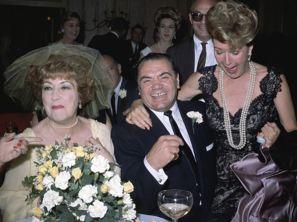 Borgnine married singer Ethel Merman (left) in 1964. The marriage lasted barely a month. (Associated Press)
