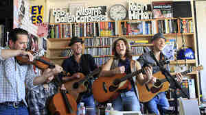 Brandi Carlile performs a Tiny Desk concert at NPR headquarters in Washington, DC on Tuesday, June 26, 2012.
