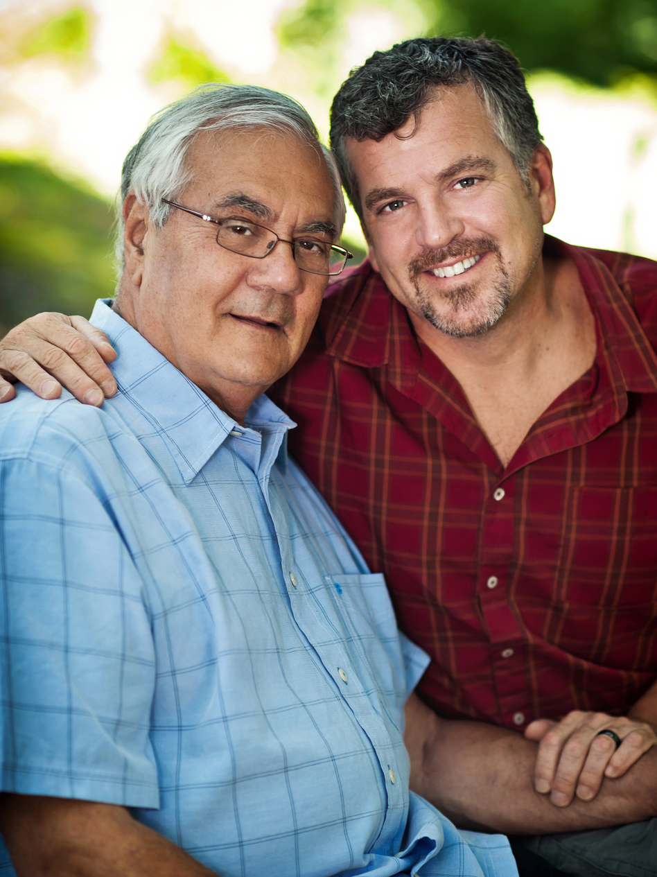Rep. Barney Frank (D-Mass., left) and his longtime partner Jim Ready got married in Massachusetts on Saturday.