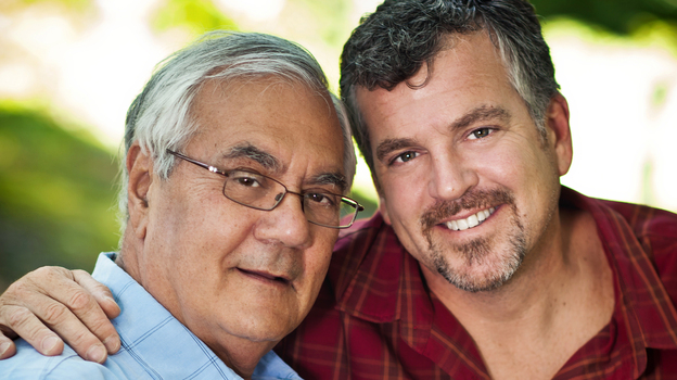 Rep. Barney Frank (D-Mass., left) and his longtime partner Jim Ready got married in Massachusetts on Saturday. (AP)