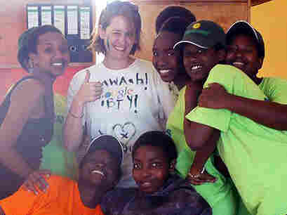 Jennifer Larr (center) is seen here in Rwanda at the Gashora Girls Academy, where she was a teacher in 2011. Larr is part of a new generation of young adults focusing on travel, studying abroad and global experiences.