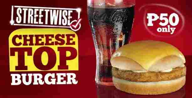 The KFC Streetwise Cheesetop Burger.
