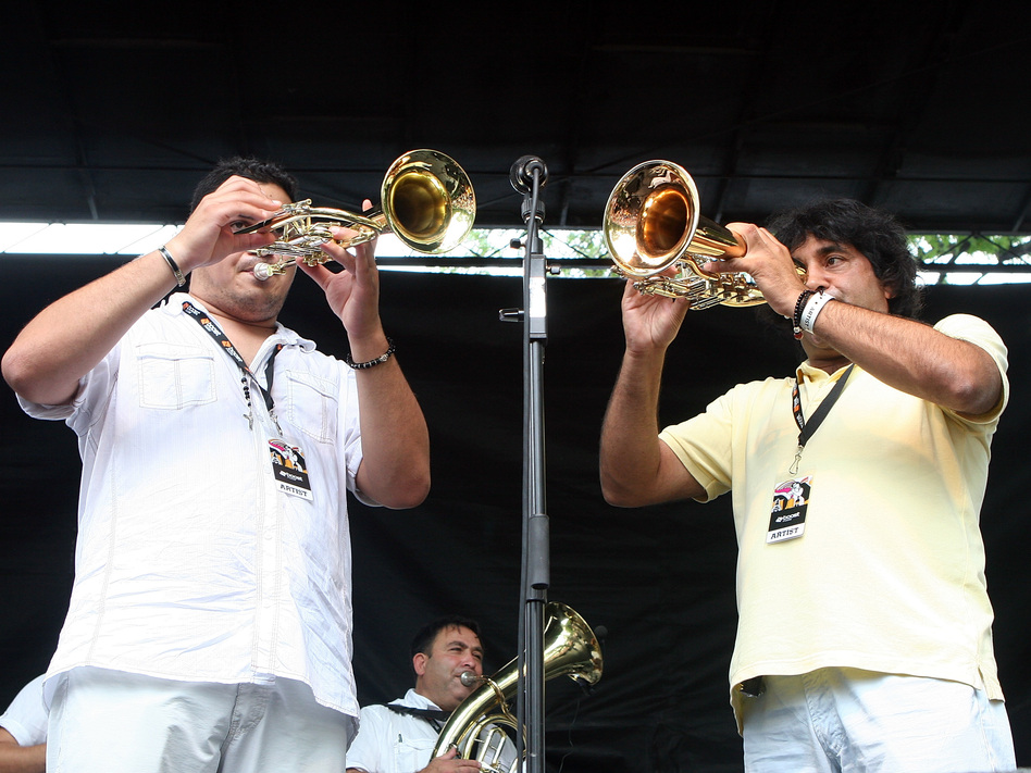 Boban i Marko Markovic Orkestar performs onstage in 2008.
