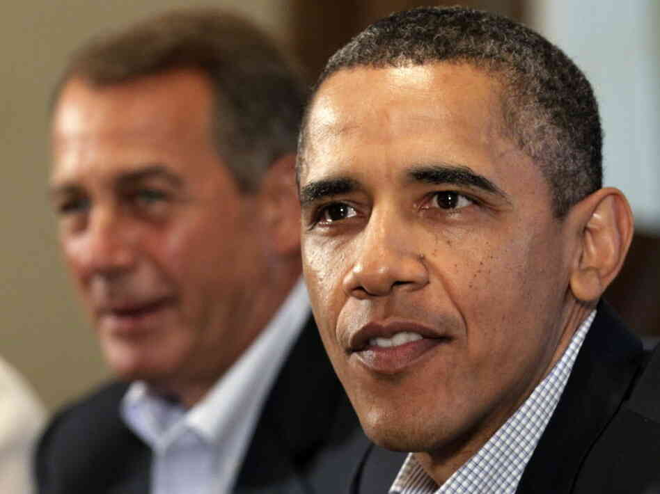 President  Obama and House Speaker John Boehner, R-Ohio, at the White House in July 2011.