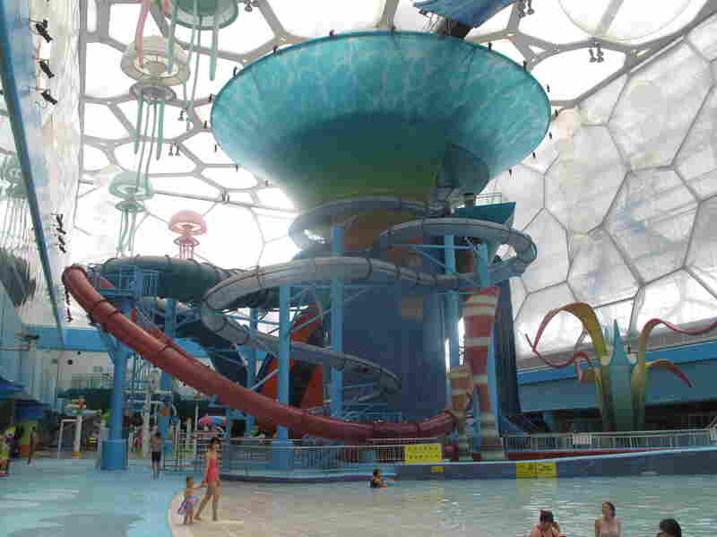 The Water Cube has found an Olympic afterlife, with some of the building converted to a water park.