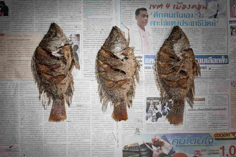 Thailand: 52.87 baht, or $1.74 U.S., of fried fish.