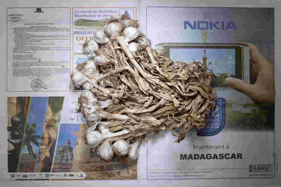 Madagascar: 1,284 ariary, or 58 cents U.S., of garlic.