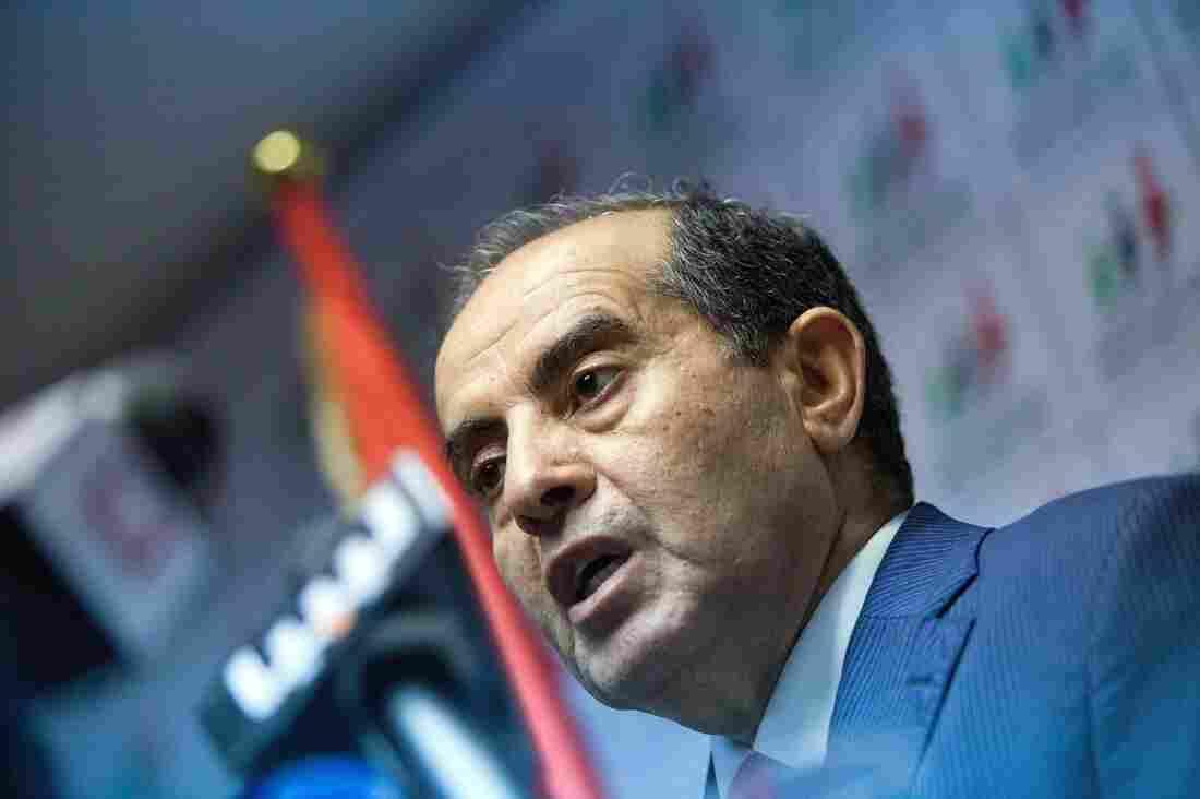 Mahmoud Jibril speaks to in Tripoli, Libya on Sunday.