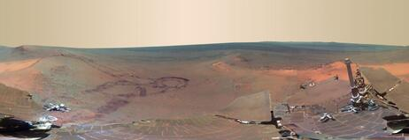 NASA's Mars Exploration Rover Opportunity took this panoramic view of the planet between Dec. 2011 and May.