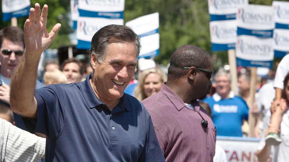 Republican presidential candidate Mitt Romney on July 4 in Wolfeboro, N.H.