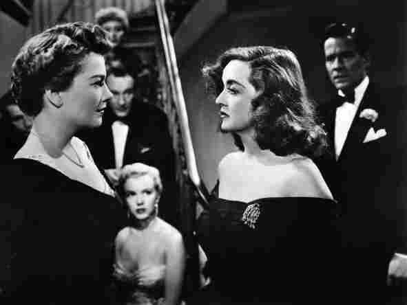 Eve Harrington (Anne Baxter, left), and Margo Channing (Bette Davis) play Broadway rivals in Joseph L Mankiewicz's All About Eve.