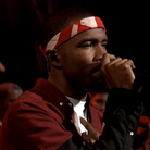 Singer Frank Ocean performs on  Late Night with Jimmy Fallon on Monday.