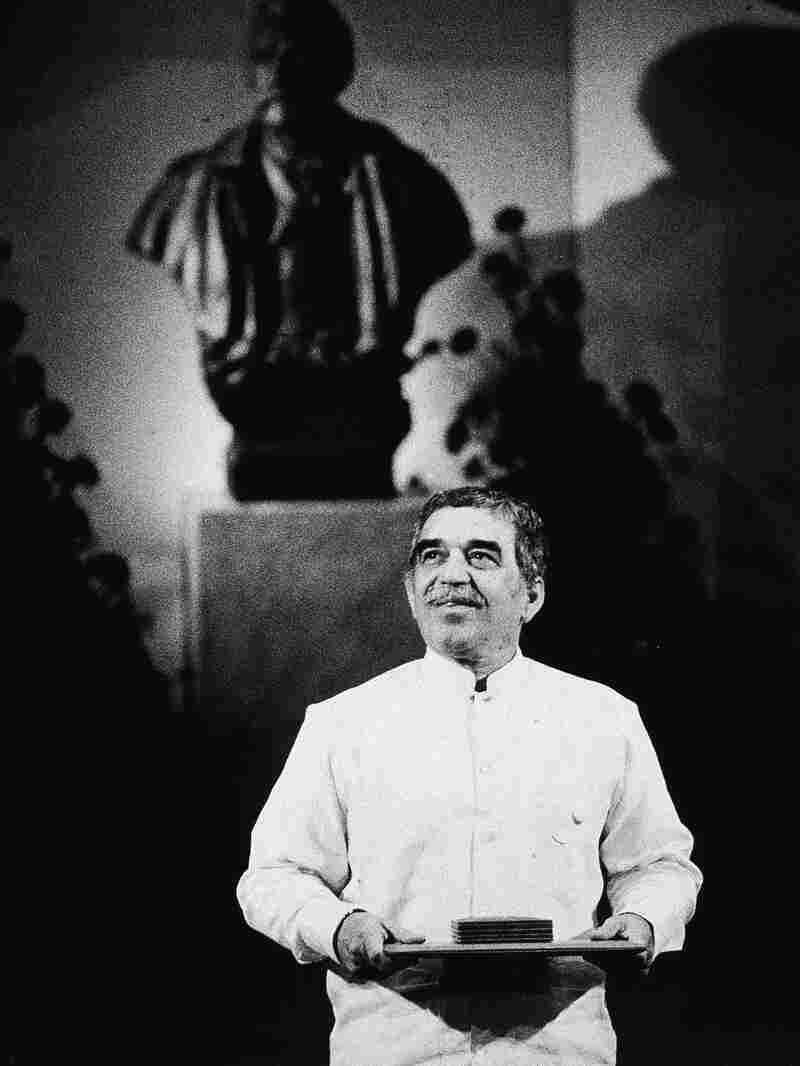 """Colombian author Gabriel Garcia Marquez was awarded the 1982 Nobel Prize in literature """"for his novels and short stories, in which the fantastic and the realistic are combined in a richly composed world of imagination, reflecting a continent's life and conflicts""""."""