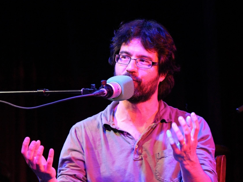 Greg Pak visits <em>Ask Me Another</em> at The Bell House in Brooklyn, NY.