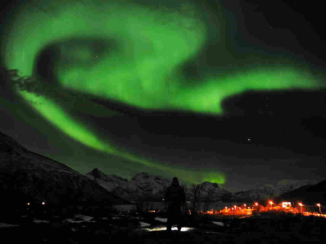 The northern lights over Tromsoe, northern Norway, on Jan. 24, 2012.