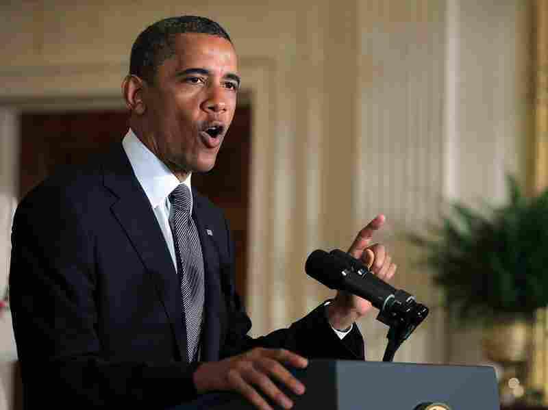 President Barack Obama delivers a statement in the East Room of the White House July 9. Obama urged the Congress to extend the Bush era tax cuts for middle class families, but let the tax rates for those making $250,000 or more rise.