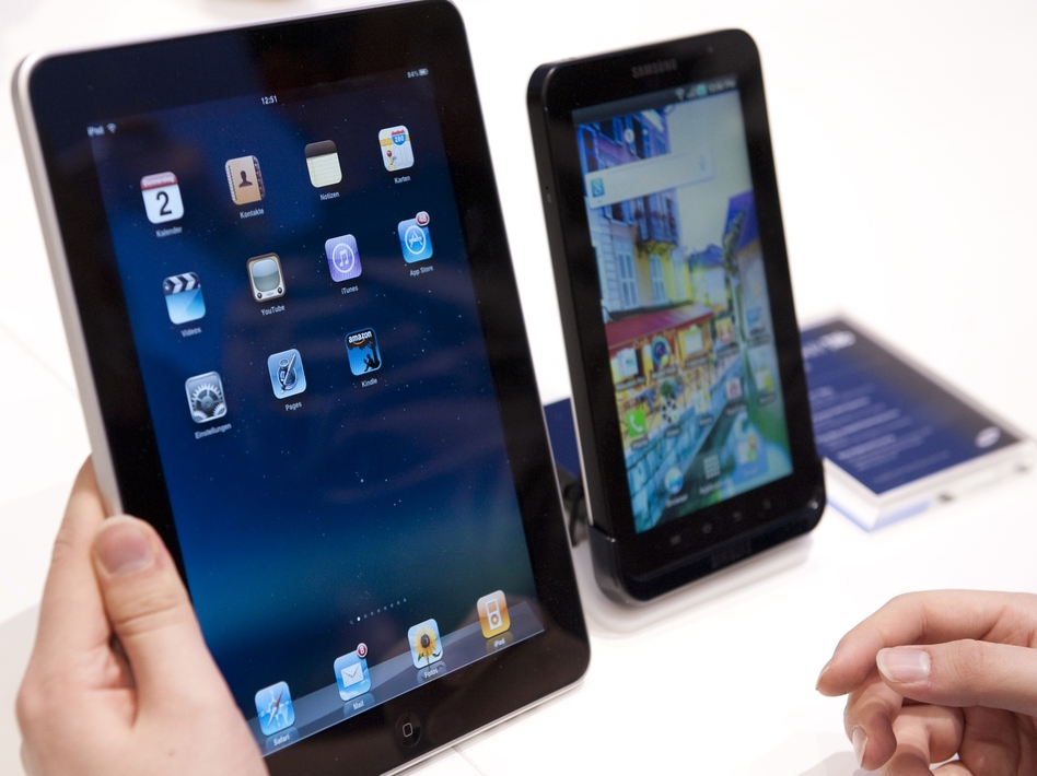"Samsung won a victory Monday in its global patent war with Apple. The British judge said Samsung's Galaxy Tab (right) is ""not as cool"" as the iPad (left)."
