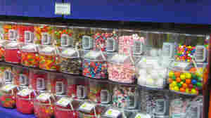 Candy on display at Ricky's Candy, Cones & Chaos.