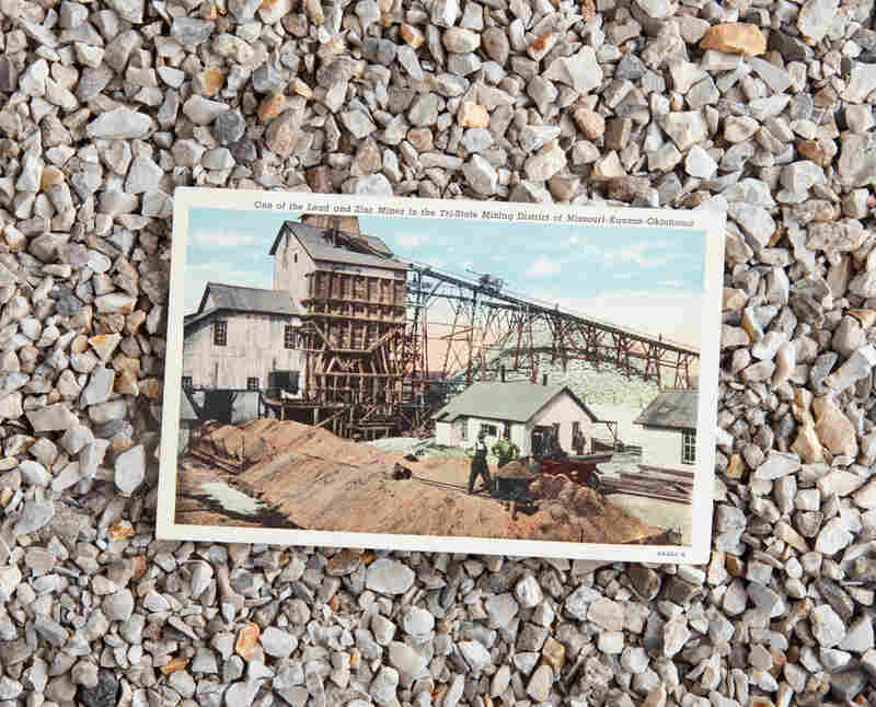 Mining postcard, mailed to Sgt. Addo H. Riker in 1952.