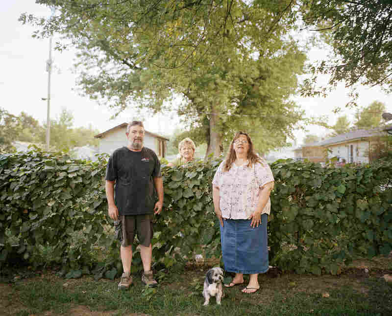 Dave, Pam and Sherry, Baxter Springs, 2011. After relocating from Treece, Pam and Dave moved next door to Dave's sister, Sherry.