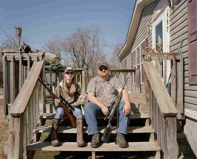 Mandy and Jerry, Treece, 2011. Jerry did not even fill out the paperwork to be considered for the buyout. He knew from the beginning that he would not leave his home.