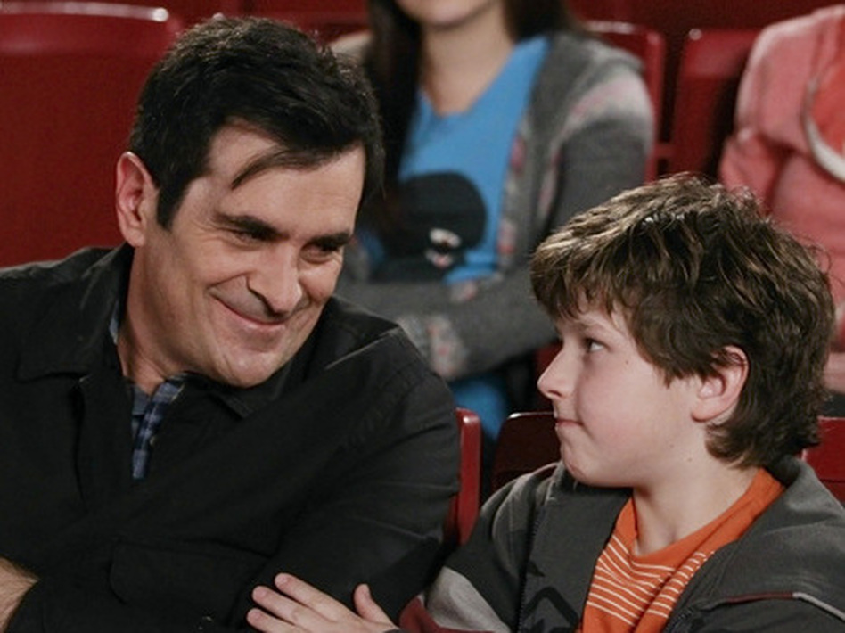 "In <em>Modern Family</em>, writes Hanna Rosin, dad Phil Dunphy, played by Ty Burrell, is ""the center of joy and fun in his household."""