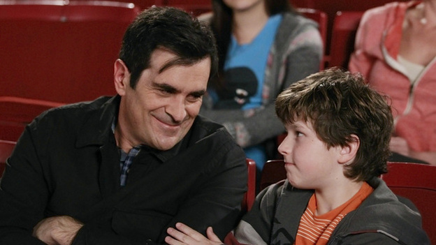 "In Modern Family, writes Hanna Rosin, dad Phil Dunphy, played by Ty Burrell, is ""the center of joy and fun in his household."" (ABC)"