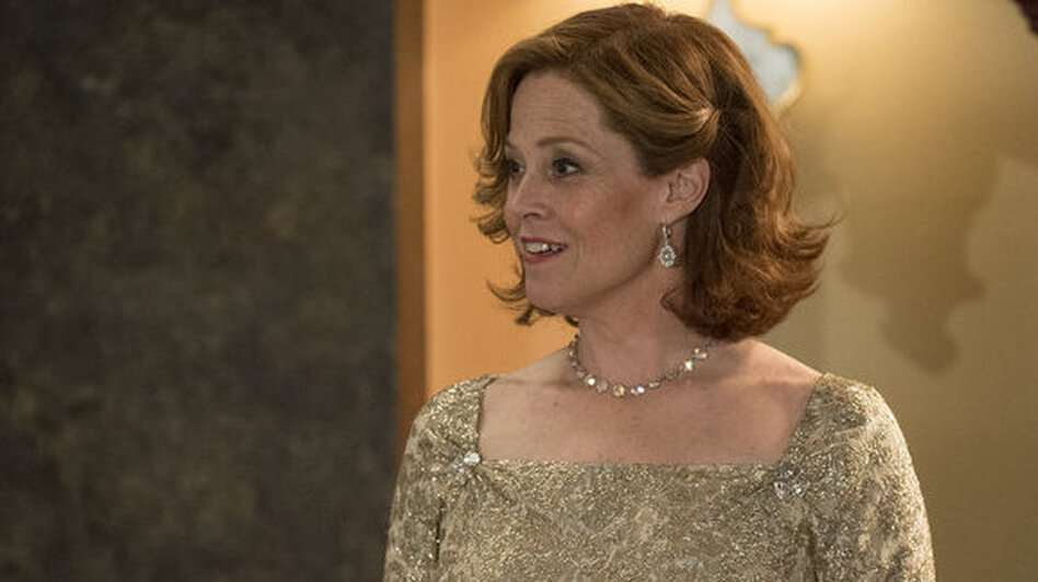 In <em>Political Animals</em>, Sigourney Weaver plays Elaine Barrish, a secretary of state and former first lady whom Weaver says is based on many former residents of the White House — not just on Hillary Clinton.