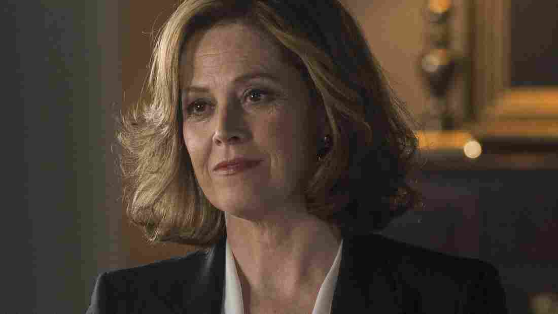 In Political Animals, Sigourney Weaver plays Elaine Barrish, the current secretary of state and a former first lady.