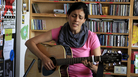 Souad Massi performs a Tiny Desk Concert at NPR headquarters in Washington, D.C., on June 29, 2012.