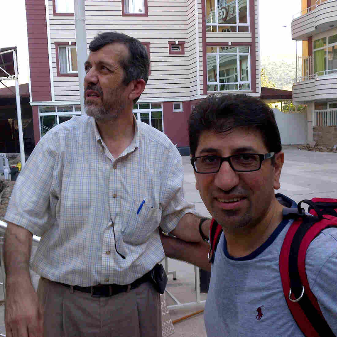 Dr. Yahya Abdul Rahim (left) and Dr. Ammar Ghanem are among the Syrian-American doctors who have come to the Turkish-Syrian border to help Syrians wounded in the anti-government revolt. Some work to improve the flow of supplies; others treat patients in Turkey; still others, like Ghanem, strap backpacks on and walk across the border to help those in Syria.