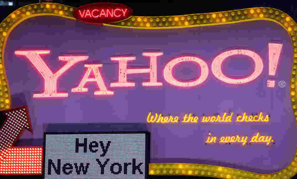 The Yahoo sign in Times Square in a 2006 file photo.