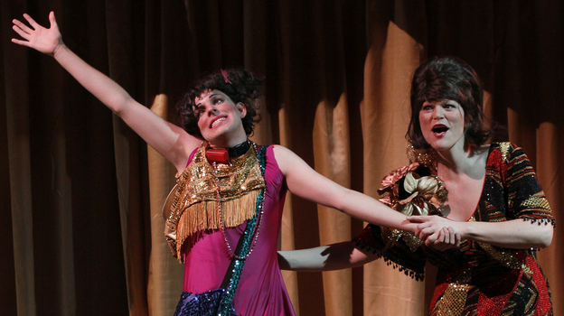 Miracle!, a drag version of the Helen Keller drama The Miracle Worker created and directed by Dan Savage, is a highlight of the Intiman Theater's comeback summer festival in Seattle. (Intiman Theater)