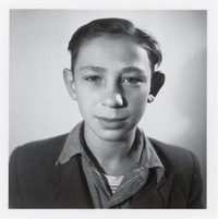 Michael Pupa at age 13 in 1951. Pupa, who is now 73, is the only living individual featured in the National Archives exhibit.