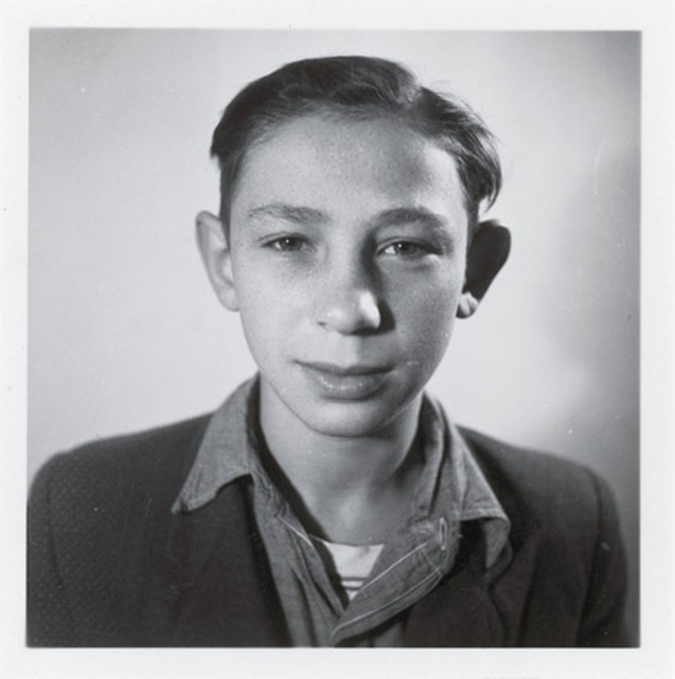 Michael Pupa at age 13 in 1951. Pupa, who is now 73, is the only living individual featured in the National Archives exhibit.  (U.S. National Archives and Records)